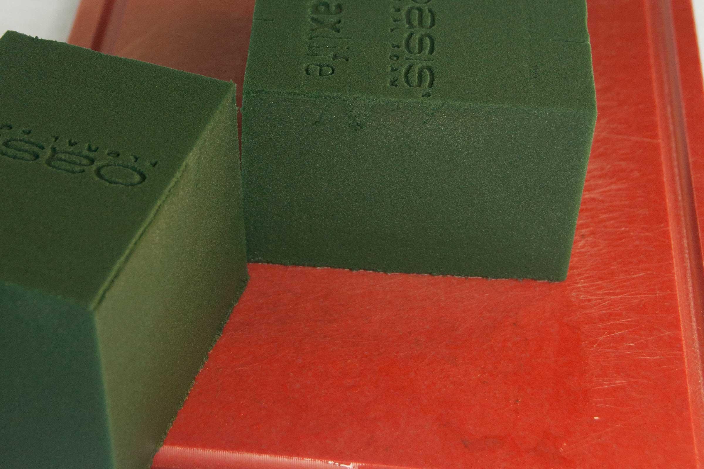 doorgesneden blok laat volledige doordrenking zien