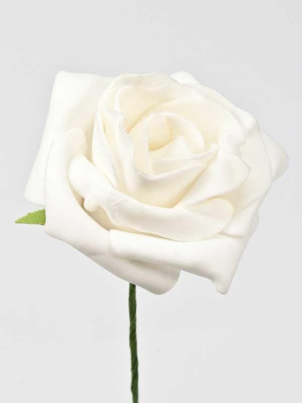roos wit foam op draad