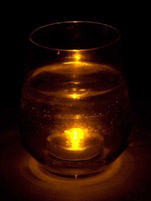 onderwater led amber in glas