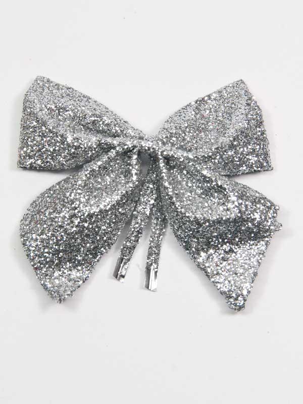 zilverglitter vlinderdasje decoratie