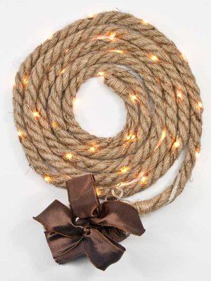 jute touw met LED licht