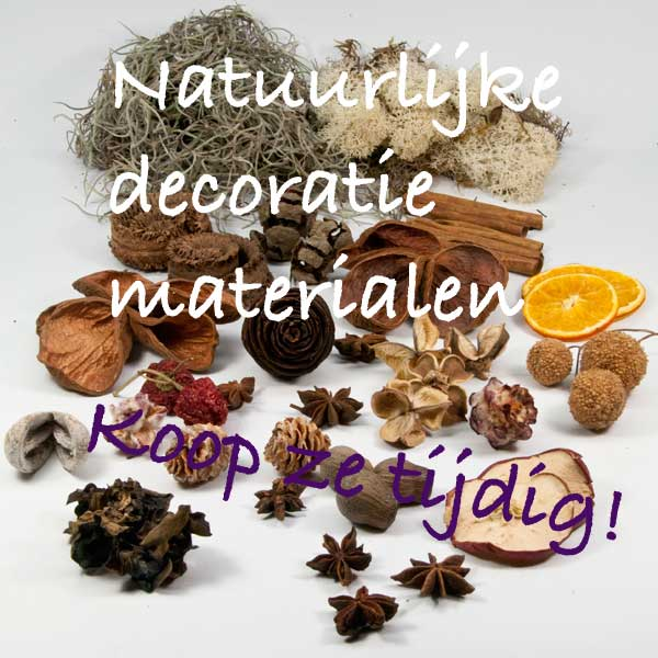 bloemschikmaterialen natuurlijke decoratiematerialen