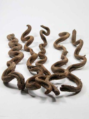 Als een slang kronkelende houten takken, 5 stuks, 35 cm