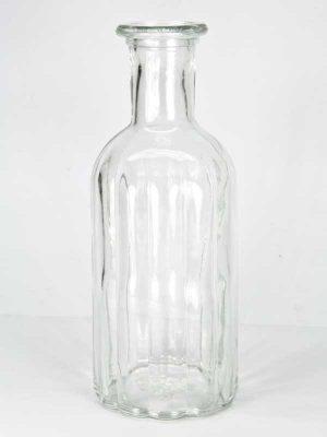 glazen flesje met ribbels groot model