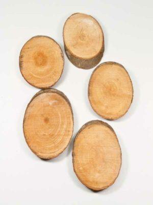 ovale houten schijfjes