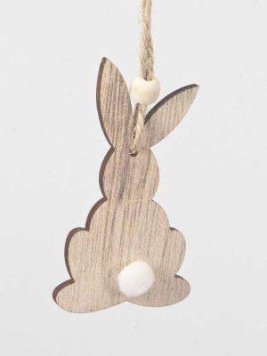 konijntje van hout om op te hangen