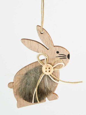 decoratie voor pasen - konijntje hangend