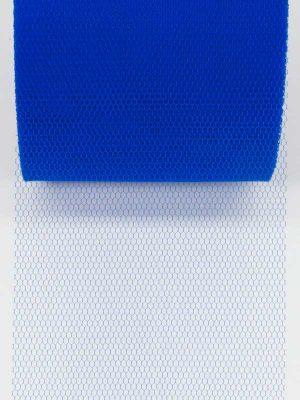 tule lint, kleur koningsblauw, 70 mm breed