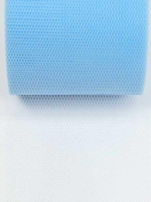 tule lint lichtblauw, 70 mm breed