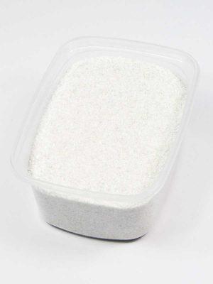 Wit zand voor decoratie