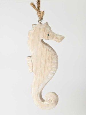 houten zeepaardje als hanger