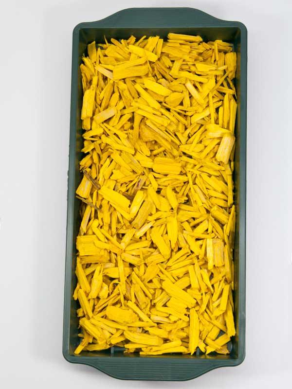 gele hotschilfers voor afwerken of decoratie