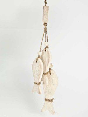 setje houten visjes als hanger