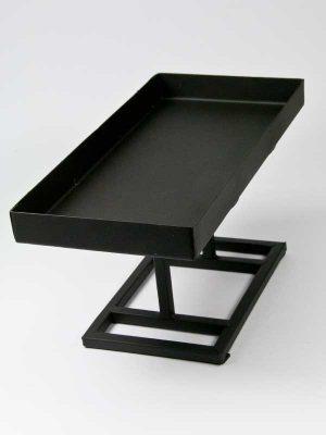 Metalen zwarte standaard voor steekschuim blok