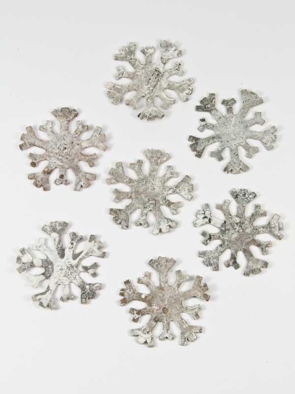 sneeuwvlokken van berkenschors