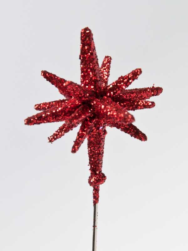 decoratiespeld 3-d ster rood