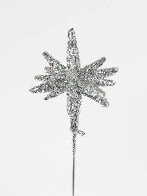 decoratiespeld 3-d zilver glitter