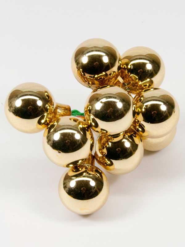 kerstballetjes goud glanzend 25 mm setje 9 stuks