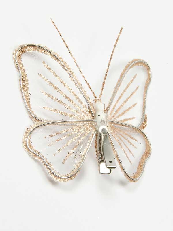 achterzijde van de vlinder met de clip goed zichtbaar