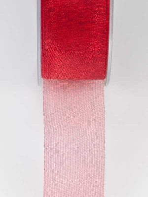 lint warm rood organza 25 mm
