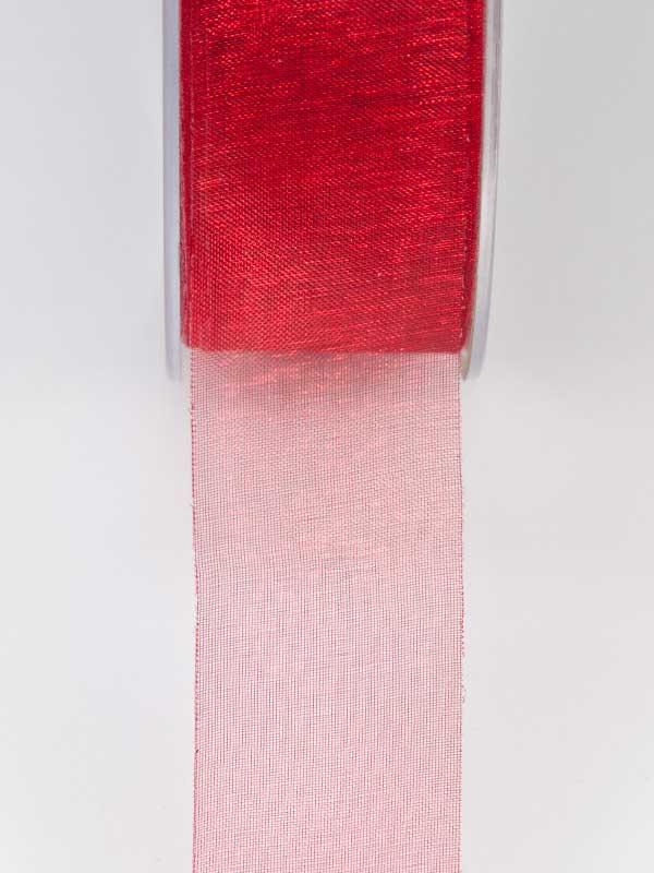 lint warm rood organza 25 mm