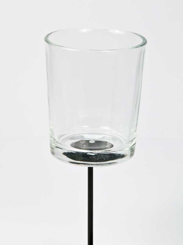 theelichthouder helder glas