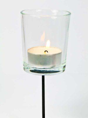 theelichthouder vaasje helder glas