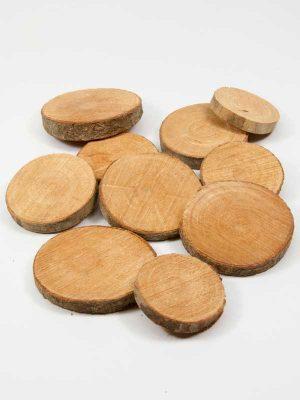 houten schijfjes naturel