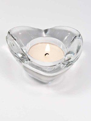 glazen waxinelichthouder hart