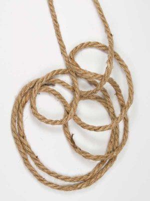 Jute touw, 3 strengen, 6 mm