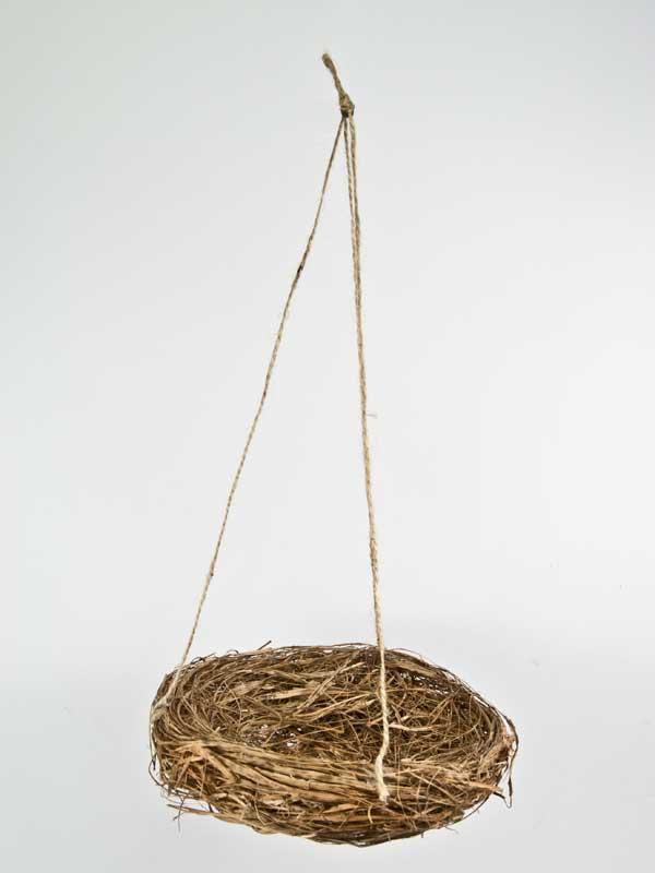 vogelnestje aan touw