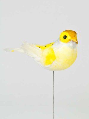 Vogel geel op draad