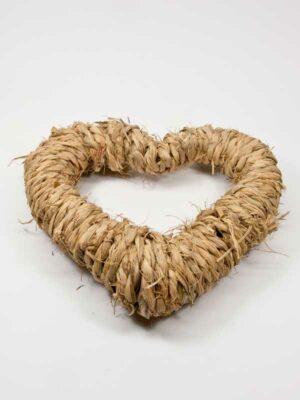 zo zie hoe dik dit hart van stro is