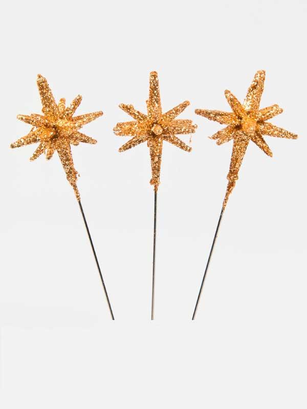 3-D decoratiespeld stervorm goud