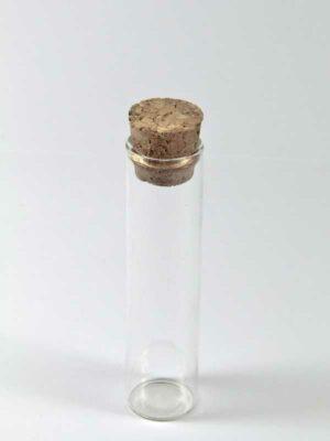glazen buisje met kurk 10 cm