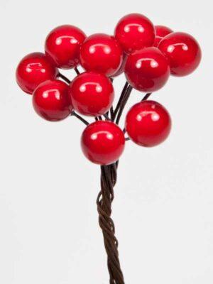 rode besjes op draad, decoratie