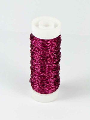 effectdraad donker roze, klosje met 25 gram