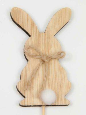 houten konijntje met wit staartje