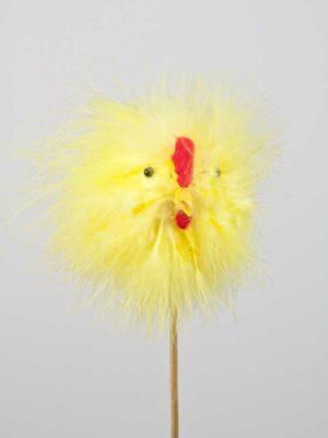 Fluffy chenille kuiken 8 cm