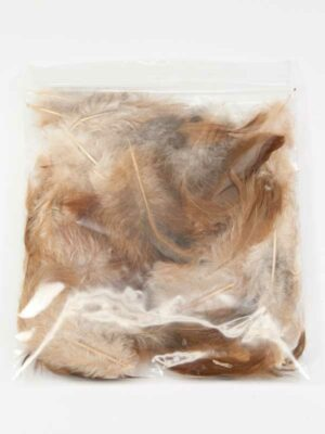 Zakje met 3 gram hanenveren