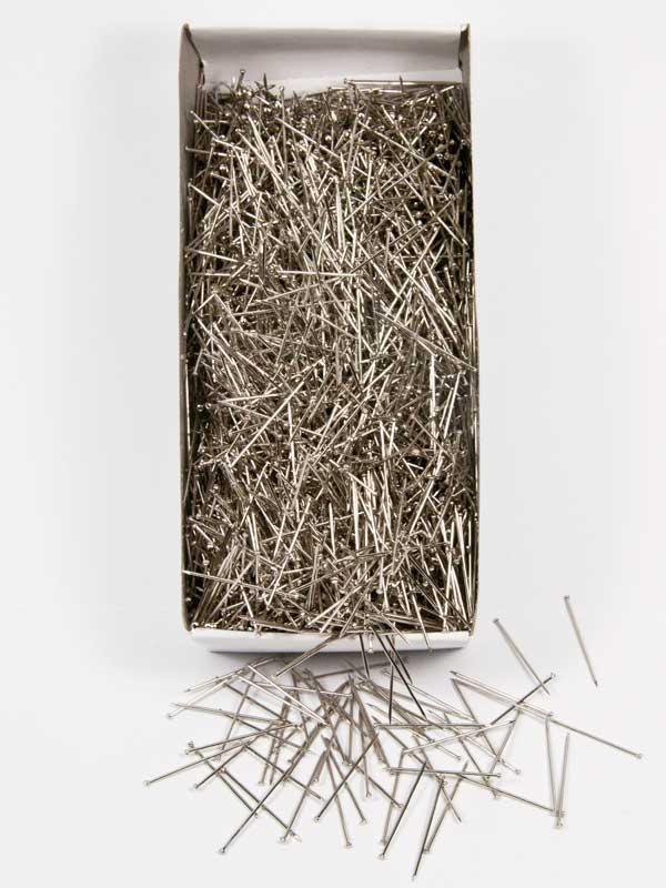 doosje steeknaalden zilverkleurig 30mm 500 gram