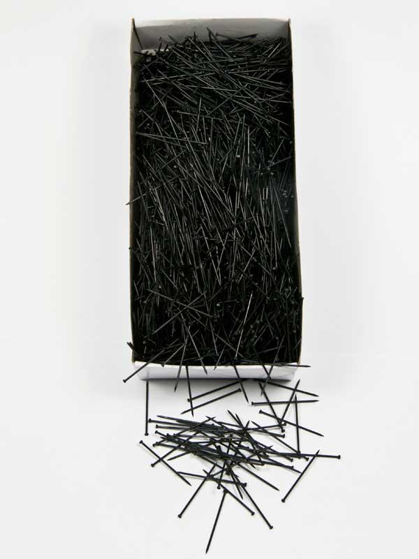 doosje zwarte steeknaalden 30 mm 500 gr